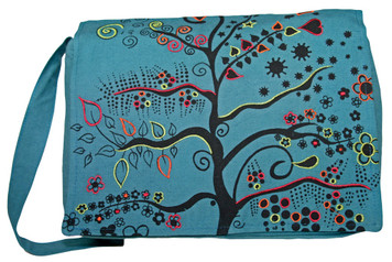 Messenger Bag - Magical fruit tree with embroidery