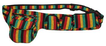 5 Pockets on a Rasta Cotton adjustable belt