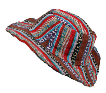Nepali Material Hat with wire brim