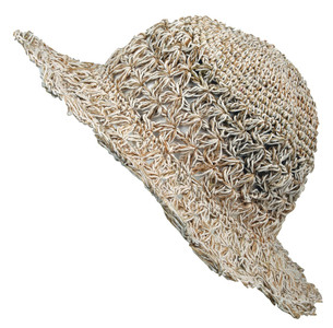 PHCS-W - Hemp Sun Hat ( X-Crochet) with secret pocket