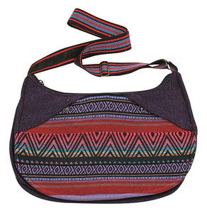 2 pocket Ladies Bag - great fabric & color - adjustable strap