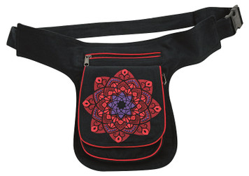 Celtic Star Kaleidoscope print on a great hip bag With 3 pockets - adjustable strap