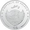PINKROSE High Relief Flowers Leaves 2 Oz Silver Coin 10$ Palau 2017