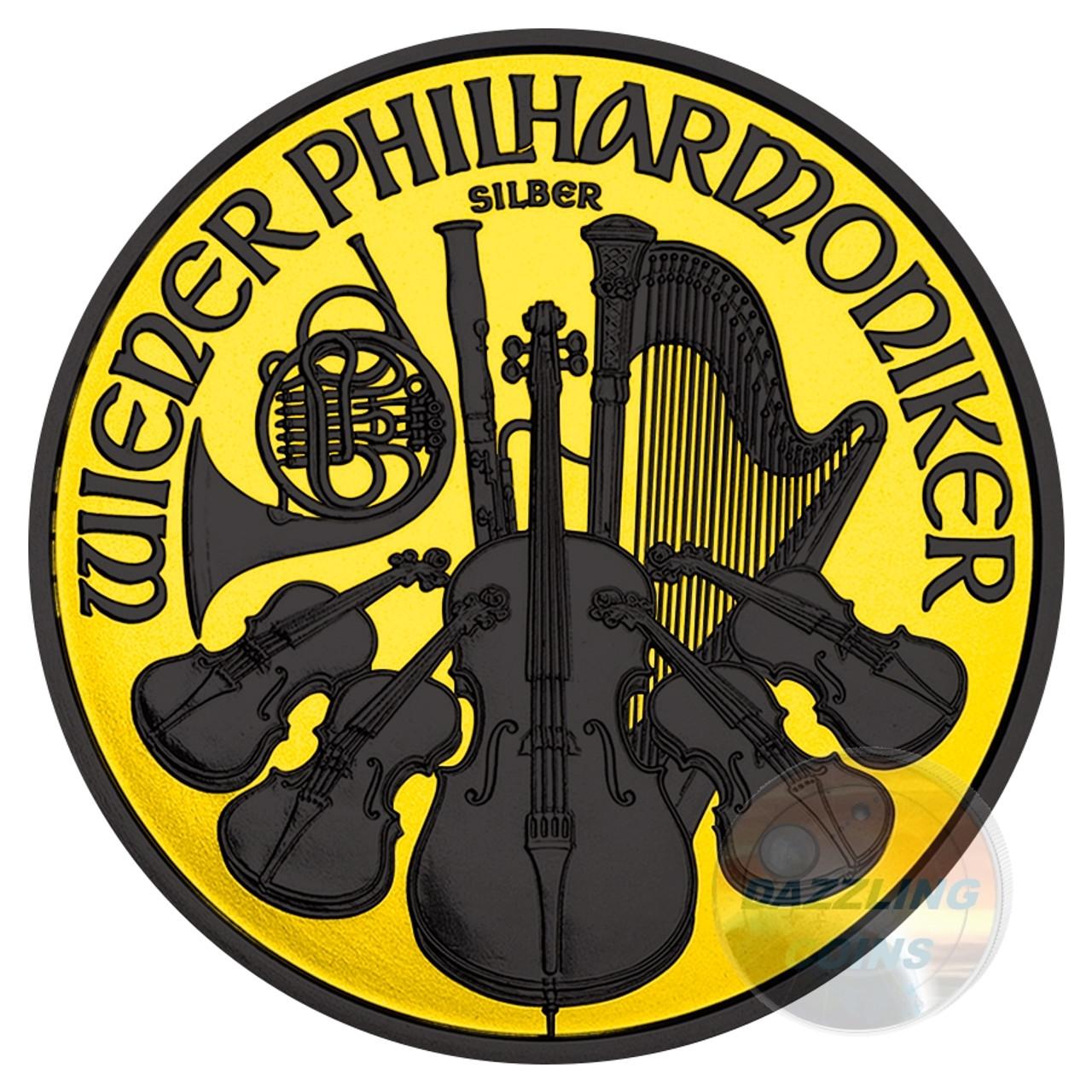 2014 austria philharmonic gilded 1 5 euro 1oz silver coin for Wohndesign pure vienna 2014