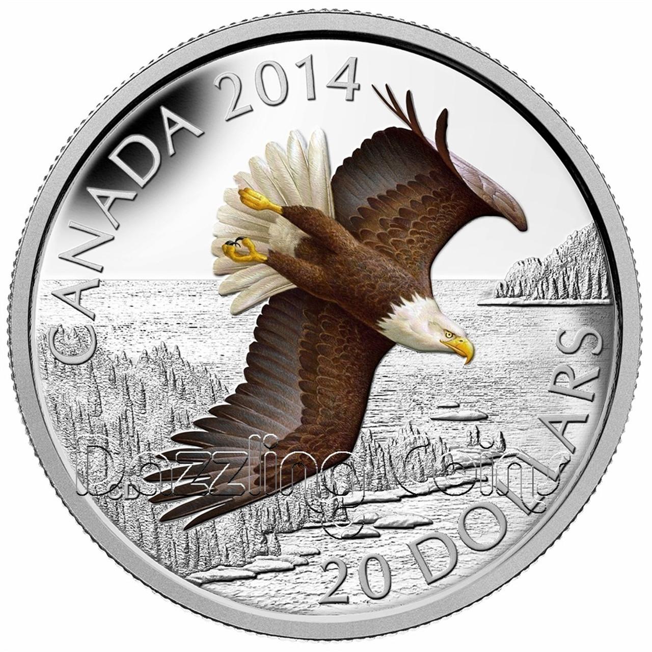 2015 bald eagle color 1 2 oz silver coin canada 9999 silver