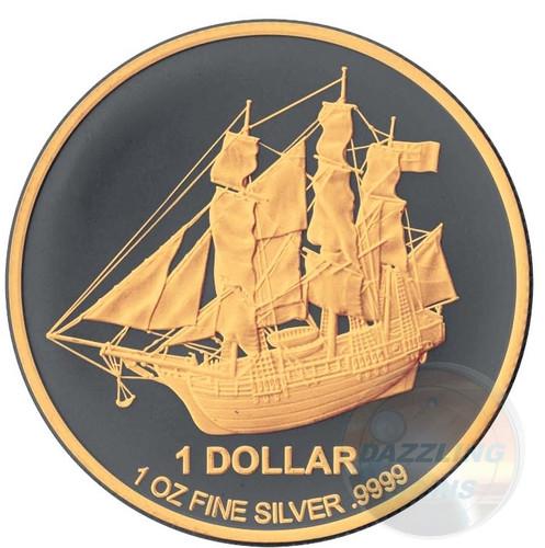 Gold Black Empire - Bounty 1 oz Coin 2017 Cook Islands