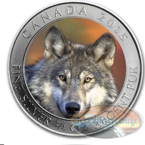 2015 Grey Wolf .9999 Silver Coin $2 Canada