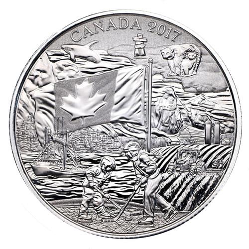 THE SPIRIT OF CANADA - 2017 $3 Pure Silver Coin Canada