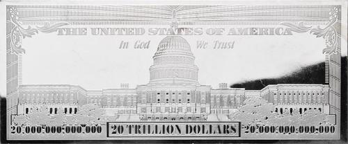 20 Trillion Silver Bar 4 Oz Bars Usa 2016