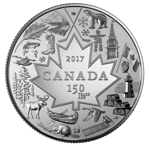 $3 FINE SILVER COIN HEART OF OUR NATION 2017 Canada