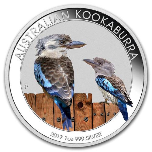 Kookaburra Color 1 oz Silver 2017 Australia