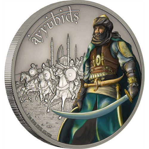 WARRIORS OF HISTORY - AYYUBIDS - 2017 1 oz Fine Silver Coin - Niue