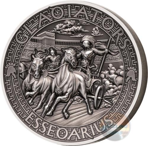 ESSEDARIUS Gladiators 2 Oz High Relief Silver Coin