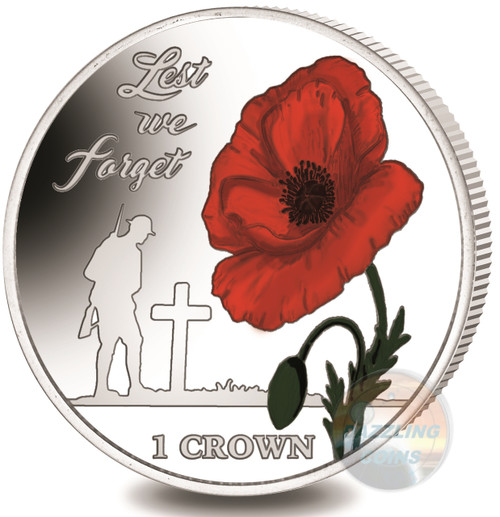 LEST WE FORGET Silver PL Coin  35th Ann. of the Falklands Liberation 2017