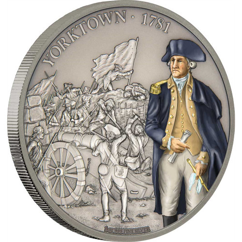 BATTLE OF YORKTOWN Battles That Changed History 1 Oz Silver Coin 2$ Niue 2017