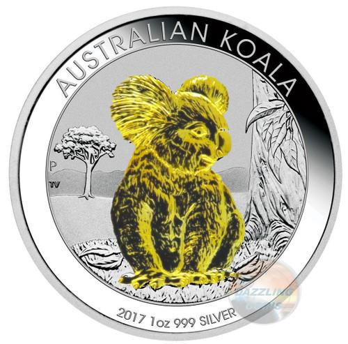 KOALA 2017 24K Gold Gilded Silver coin 1 oz Australia 2017