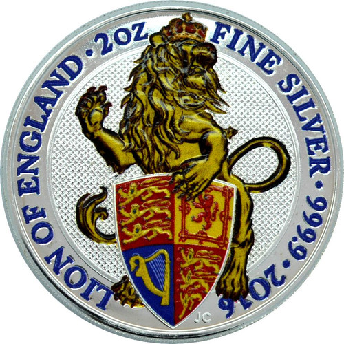LION of ENGLAND 2 oz Silver Color Coin Ultra High Relief 2017 UK