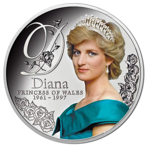 DIANA - PRINCESS OF WALES - 2017 $1 Silver Proof Coin - Tokelau