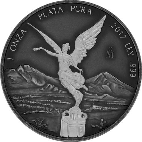 LIBERTAD Antique Finish 1 Oz Silver Coin Mexico 2017