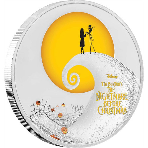 NIGHTMARE BEFORE CHRISTMAS Disney 1 Oz Silver Coin 2$ Niue 2017