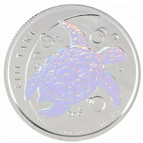 1/2 oz Silver HOLOGRAM NZ Mint $1 Fiji Taku .999