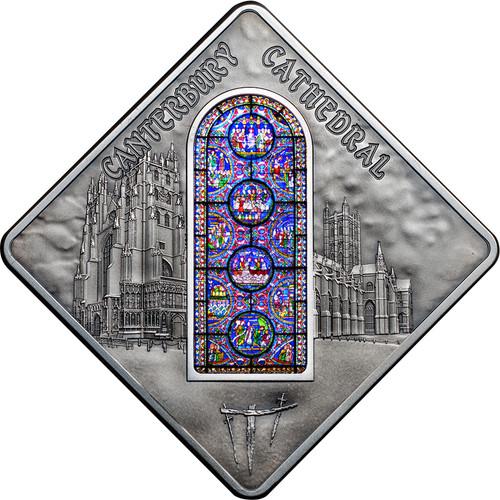 Canterbury Cathedral - Sacred Art Silver Coin 10$ Palau 2015