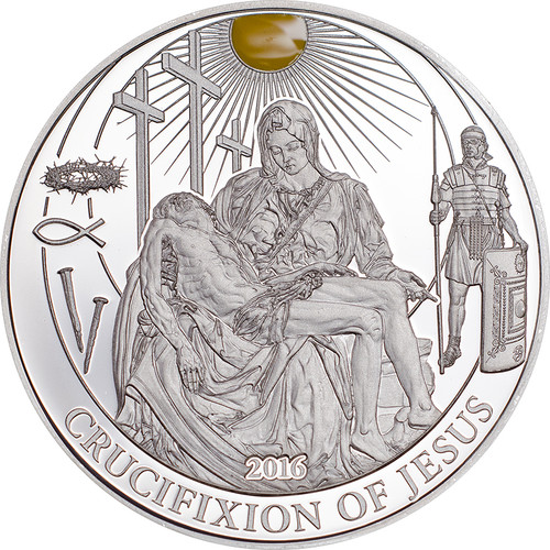 Crucifixion of Jesus - Biblical Stories Silver Proof Coin 2$ Palau 2016