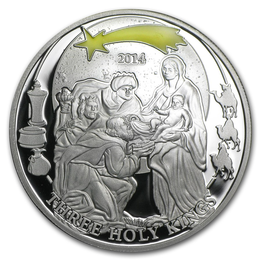 Three Holy Kings - Biblical Stories Silver Coin