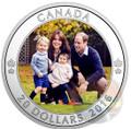 The Royal Family Tour of Canada 2016 $20 1 oz Silver Color Coin