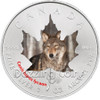 2014 Canadian Wildlife 1 oz Color Silver Maple Leaf Series - Timber Wolf