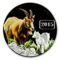 2015 Tokelau 1 Oz .999 Silver Year of the Goat $5 Color Coin