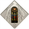 St. Patrick's Cathedral New York - Sacred Art Silver Coin 10$ Palau 2011