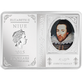 2014 1 oz Silver Coin - 450th Anniversary of Shakespeare