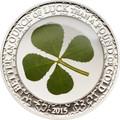 2015 1 oz Silver Coin - Ounce of Luck - Four Leaf Clover