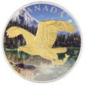 1 OZ Birds of Prey 2014 - Bald Eagle Gilded- Color $5 Silver .9999