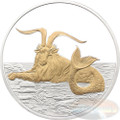 2015 Myth & Legend - Capricornus 1oz Silver Gilded Proof Tokelau Coin