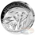 2015 Somalia~High Relief African Wildlife ELEPHANT 1oz Silver Coin
