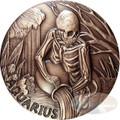 2015 ZODIAC AQUARIUS MEMENTO MORI Rimless HR Antique Copper 1oz