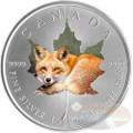 1 oz Maple Leaf RED FOX Theme ~ Silver .9999 $5 Canada 2015
