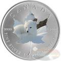 1 oz Maple Leaf Arctic FOX Theme ~ Silver .9999 $5 Canada 2015