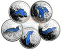 Set of Canada Great Lakes 5x $20 Silver Coins