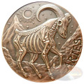 2015 Zodiac Aries- MEMENTO MORI  Rimless HR Antique Copper 1oz