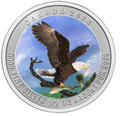 2015 Bald Eagle color  1/2 oz Silver Coin - Canada .9999 Silver