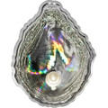 Oyster I Hologram Convex Silver Coin 5$ Palau 2011
