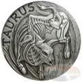 2015 Zodiac Taurus MEMENTO MORI Rimless HR Antique Silver 1oz