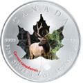 2015 Canadian Wildlife 1 oz Silver Maple Leaf - Elk (Wapiti)