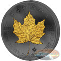 2015 Canada - Golden Enigma - Maple Leaf - Silver & Ruthenium & Gold Plated Coin