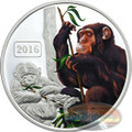 2016 Tokelau 1 Oz .999 Silver Year of the Monkey $5 Color Coin