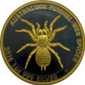 2015 1 oz. Aus Funnel-web Spider .999 Silver Ruthenium Gilded