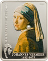 JOHANNES VERMEER Girl with pear OLD MASTERS 5$ Cook Island Silver Coin 2009